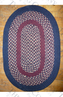 Calico Navy Blue (2'x3' oval)