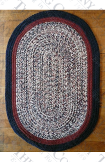 Calico Navy Tweed (2'x3' oval)