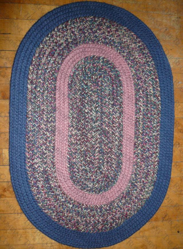 Calico Blue Tweed (2'x3' oval)