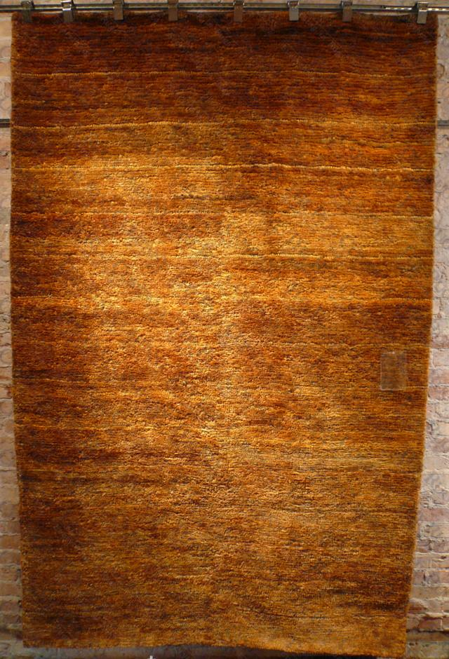 Hand Knotted Hemp Rug Gold (5'x8')