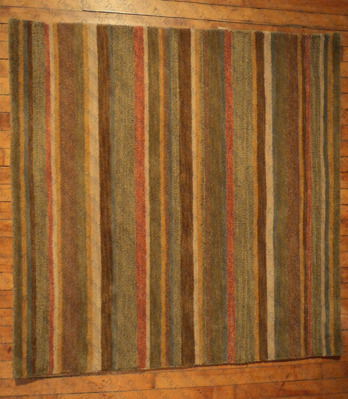 """Natural Stripe (3'9"""" square)"""