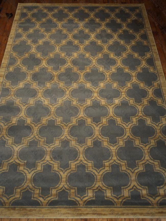 "Slate Blue Lattice (5'3""x7'7"")"