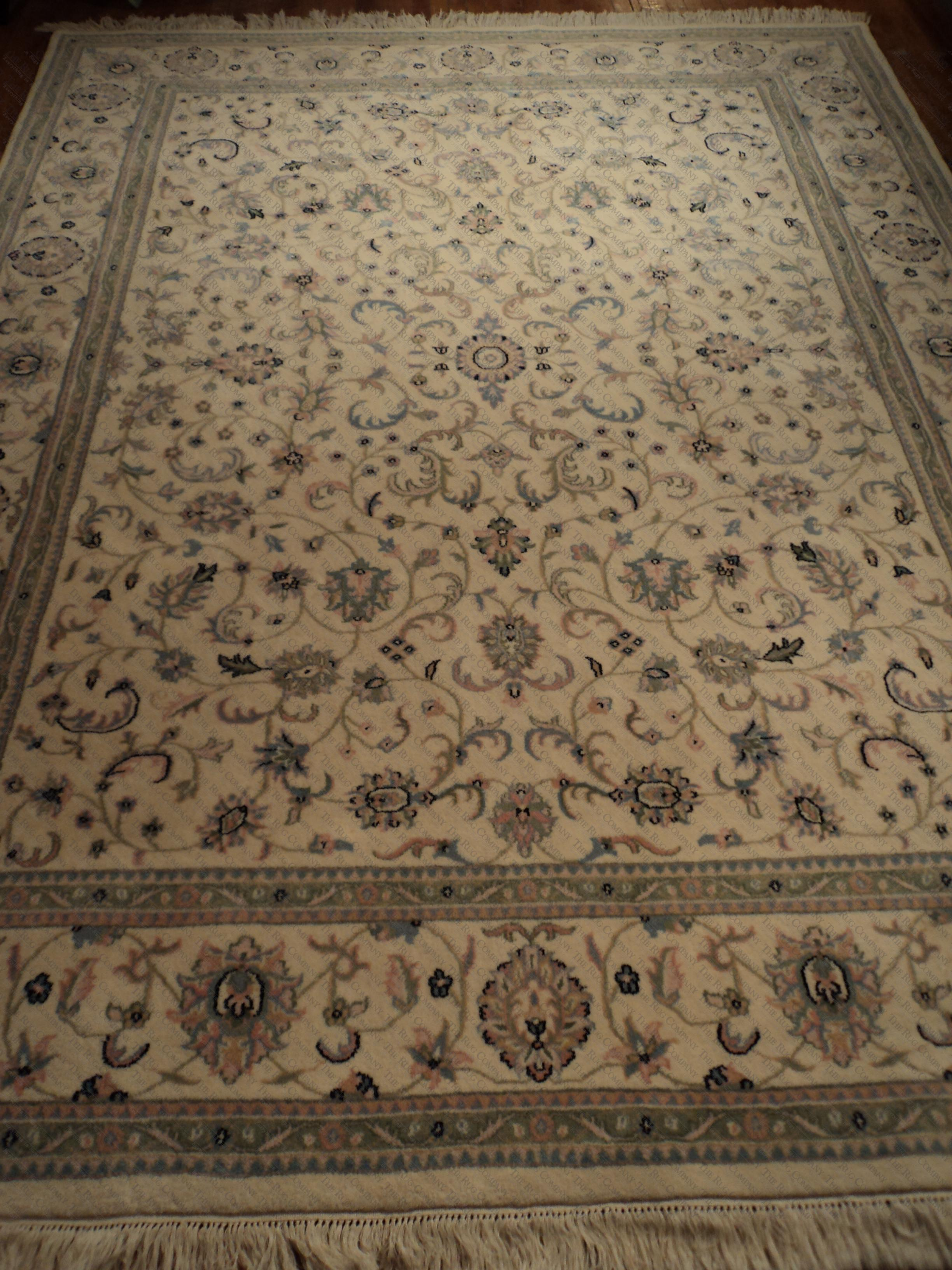 Ivory multi kashan 8x10 39 2 the rug company for The rug company rugs