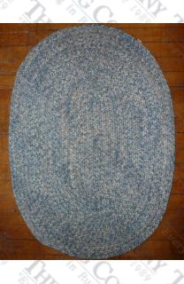 Calico Light Blue Tweed (2'x3' oval)