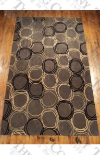 Concentric Circles Grey (5'x8')