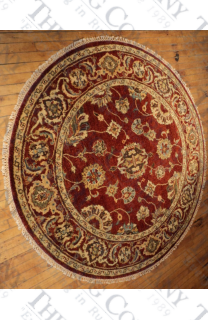 Oushak Red, Red Lt. Tea Wash (6' round)